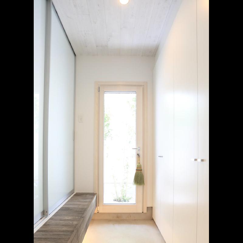 木製サッシ イタリカ 勝手口カギ付きドア
