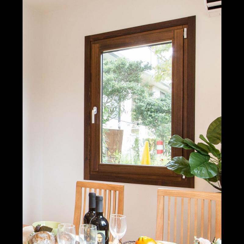 木製サッシ イタリカ 片開き腰窓 右吊元 ダークウォールナット