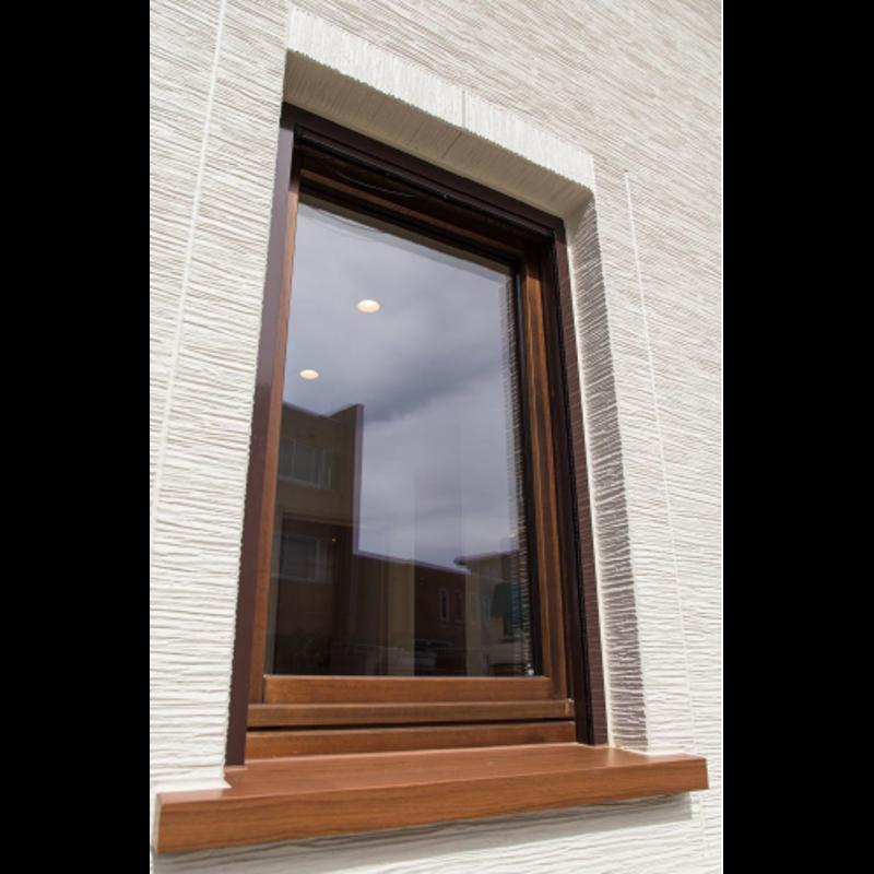 木製サッシ イタリカ 片開き腰窓 ダークウォールナット