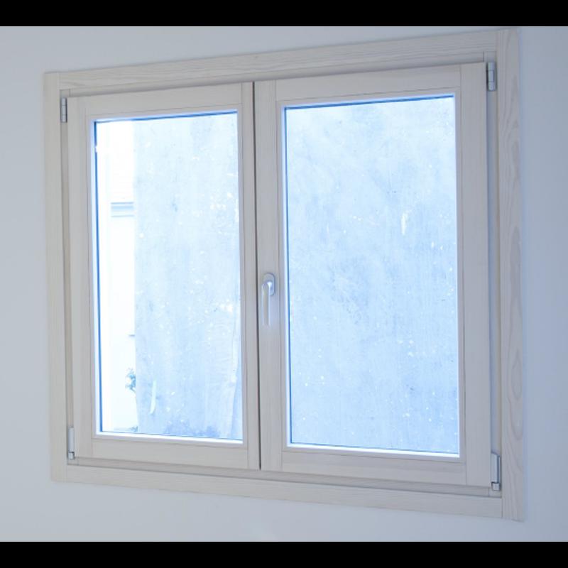 木製サッシ イタリカ 両開き腰窓 ホワイトステイン