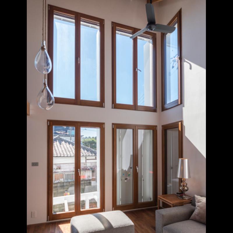 木製サッシ イタリカ 両開き掃出し窓