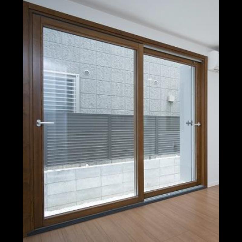 木製サッシ イタリカ 引き違い窓 ウォールナット