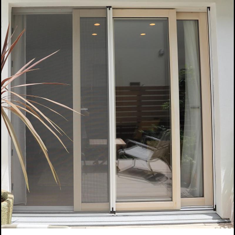 木製サッシ イタリカ 引き違い窓 ホワイトステイン