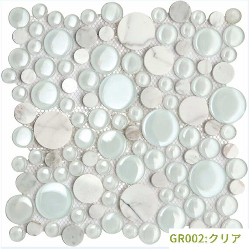 円形モザイクタイル(GR002:クリア)