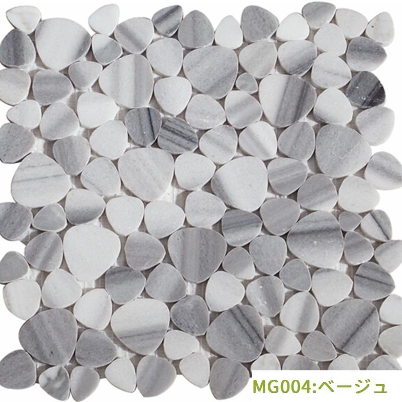 円形モザイクタイル(MG001:ベージュ)